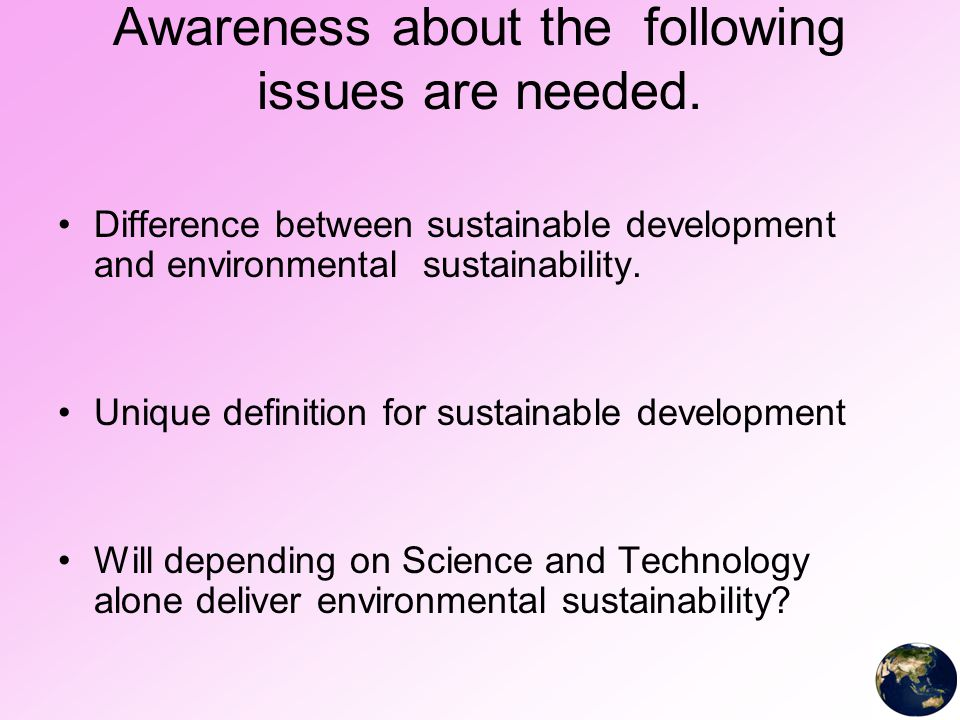 essay science and technology for sustainable development World journal of science, technology and sustainable development (wjstsd) is published in partnership with the world association for sustainable development (wasd) wasd is a unique global forum that brings together people from across the world to discuss key issues relating to science and technology management that impact the world sustainable.