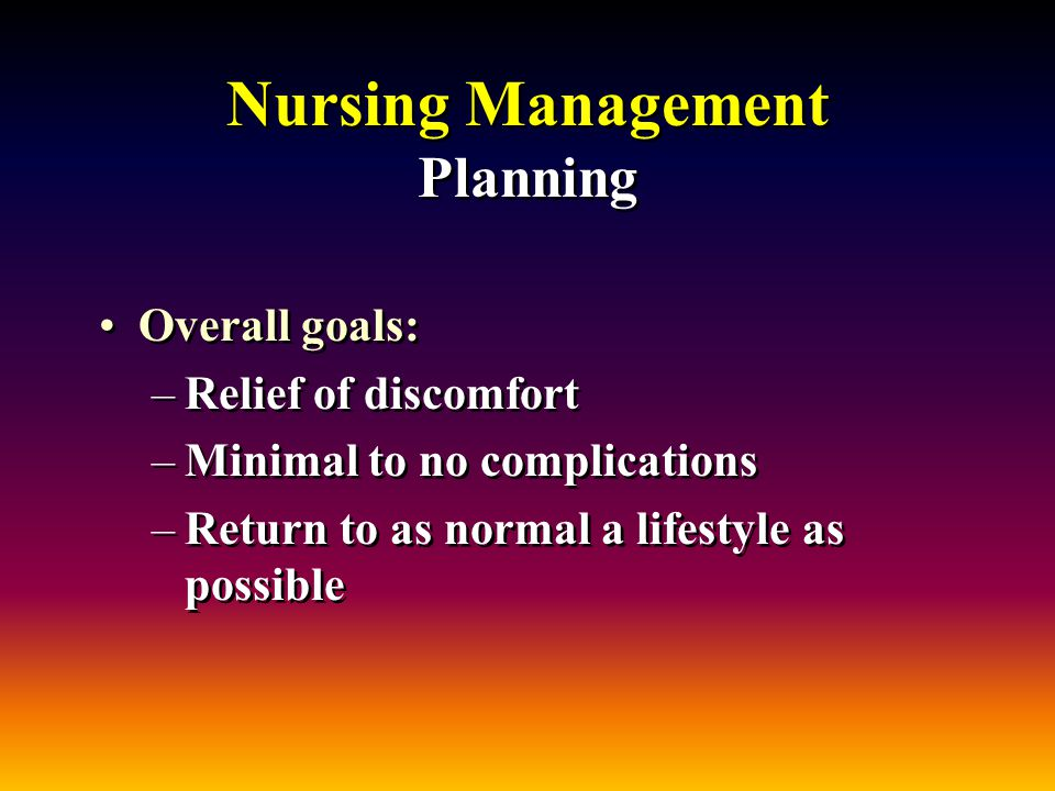 nursing management planning Time management building blocks suzanne cannot effectively meet all of her responsibilities by working faster or putting in longer hours working faster offers less time to think, plan and.