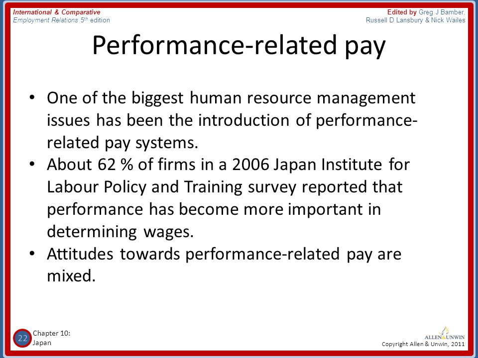 performance related pay Performance related pay over the past decade clients have forced advertising agencies to justify their costs james curtis reports that moves for payment by results could benefit the industry's.