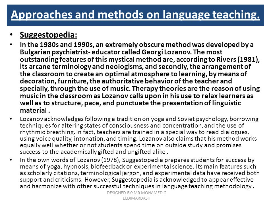 successful esl teaching techniques and methods Here she shares her favourite approaches for creative english  10 creative ways to teach english that deliver  focused on strategies the teaching of reading .