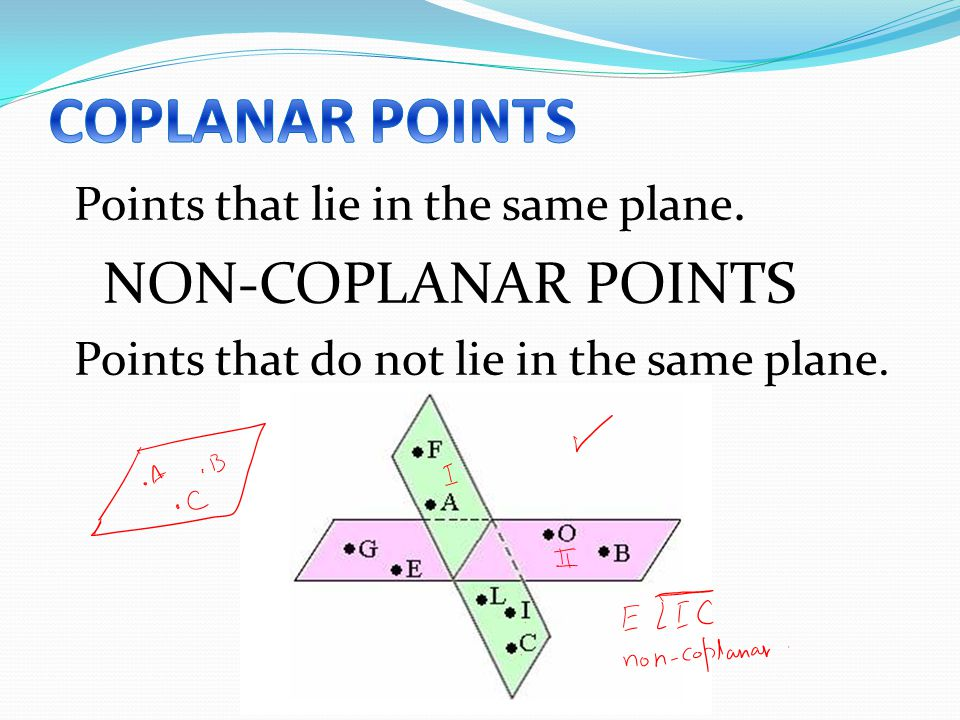 how to tell if points are coplanar