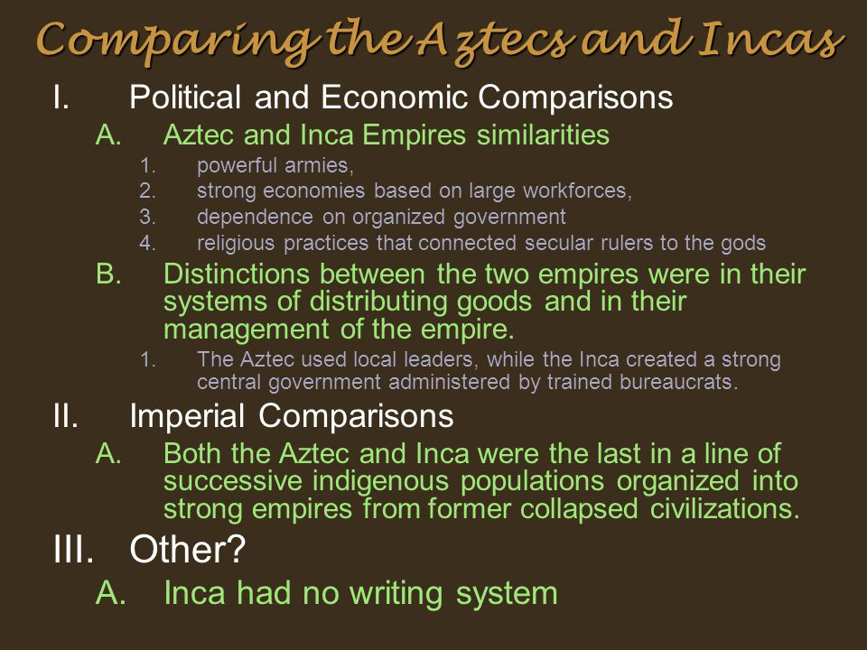 the comparison of aztec and mayan religion essay Why did the maya, aztecs and inca not what are the similarities and differences between the conquest of how is the aztec religion similar to a lot of.