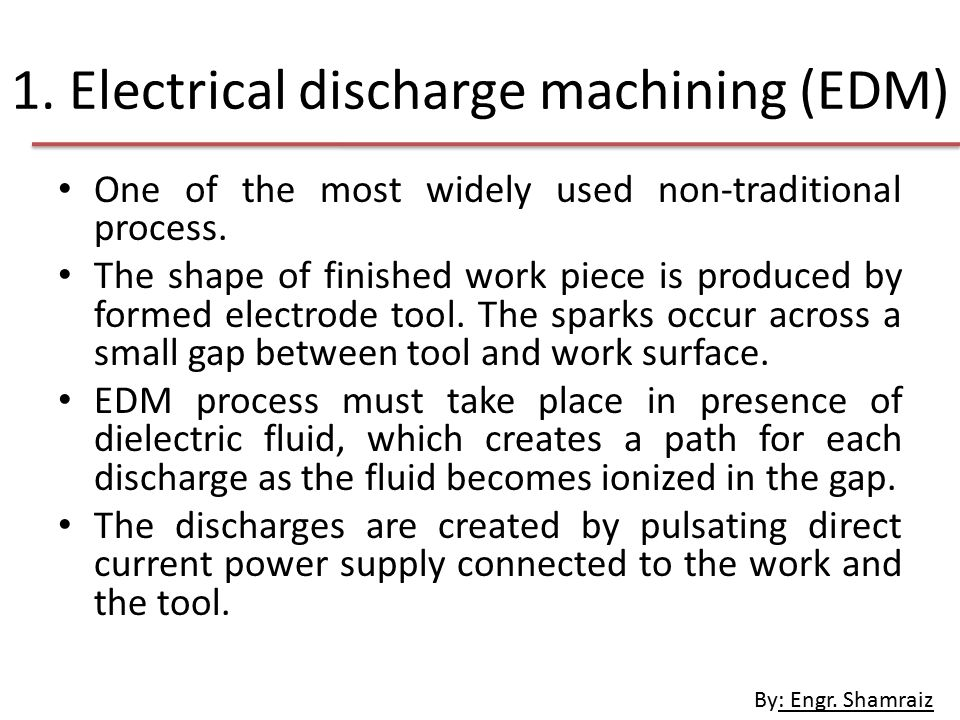 electrical discharge machining process pdf
