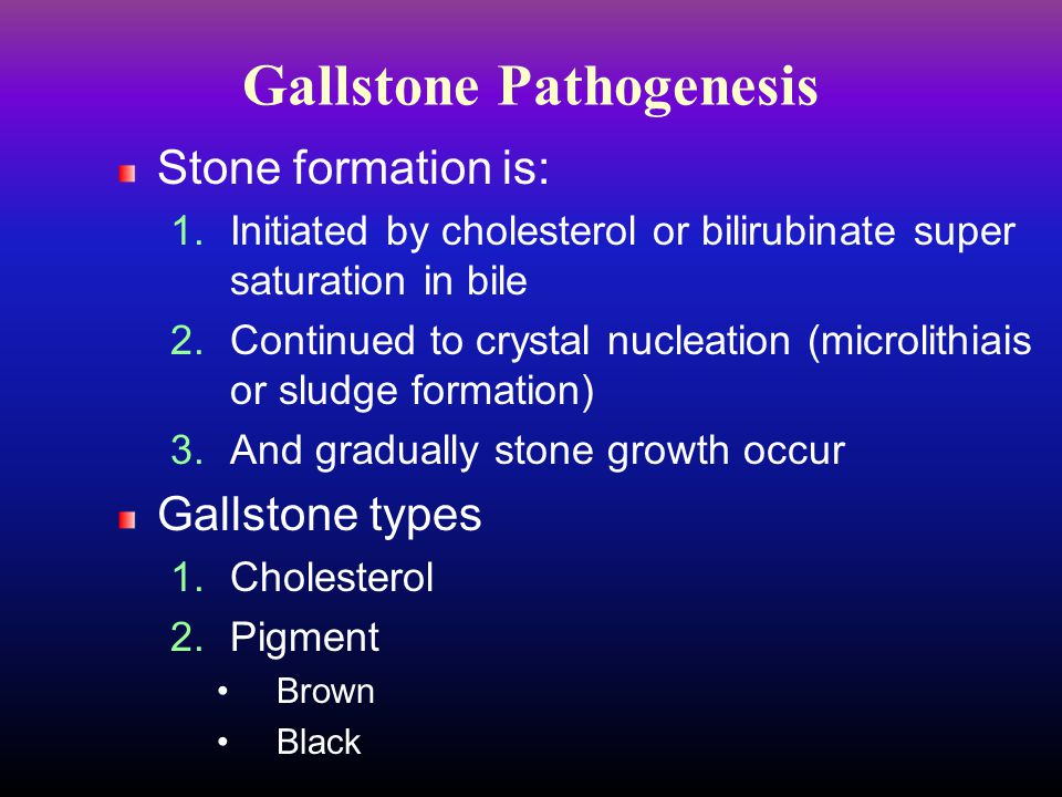Gallstone Pathogenesis