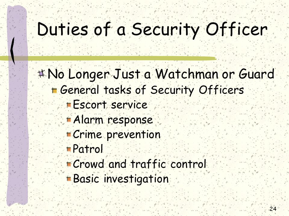 duties of a security officer. security guard cover letter example ...