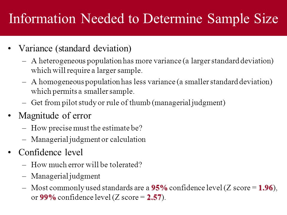 how to decide sample size for pilot study