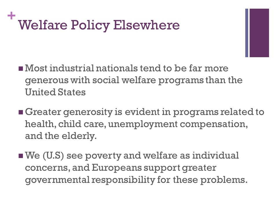 Welfare Policy Elsewhere