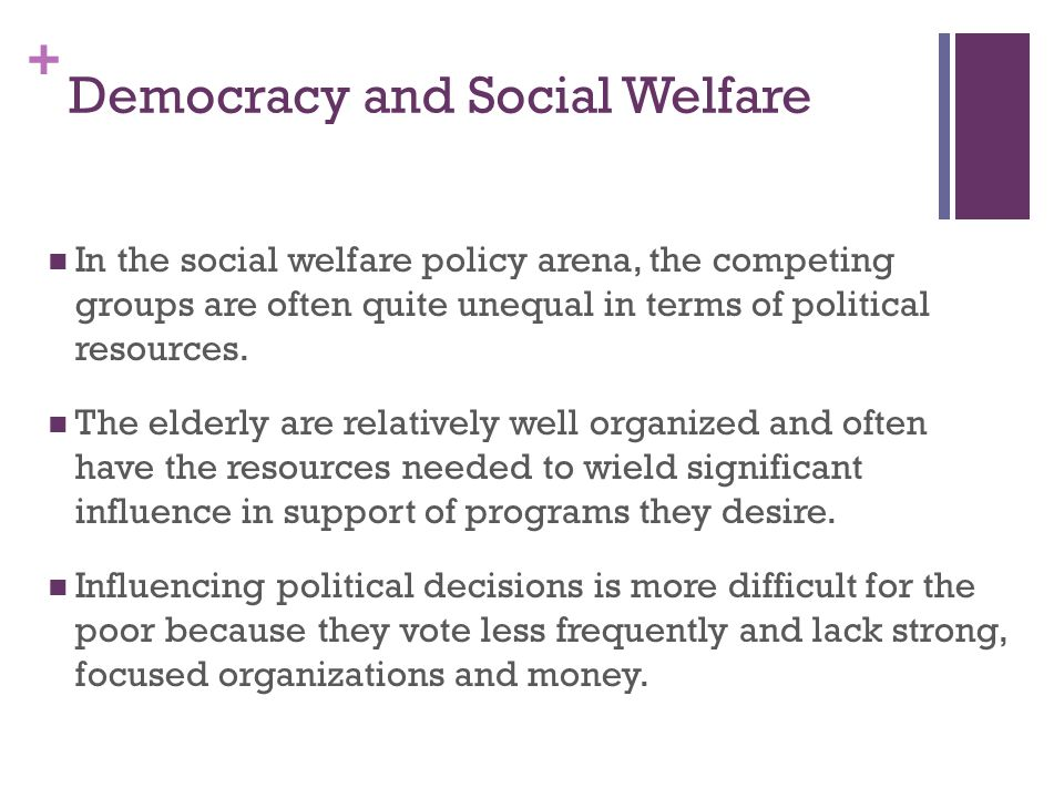 Democracy and Social Welfare