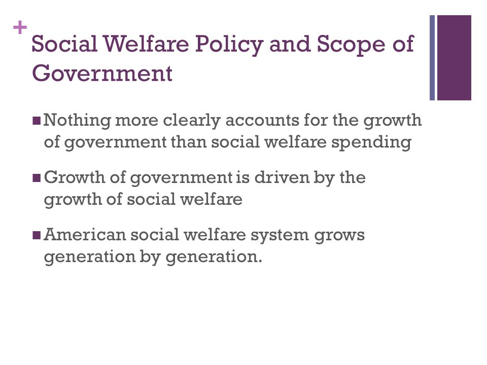 Social Welfare Policy and Scope of Government