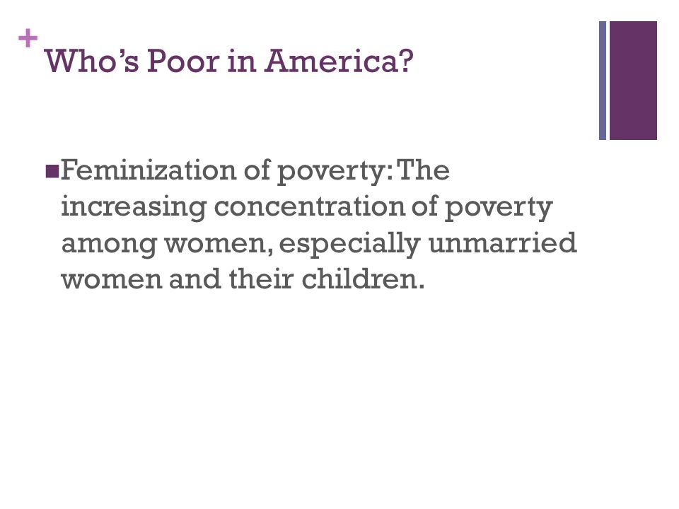 Who's Poor in America