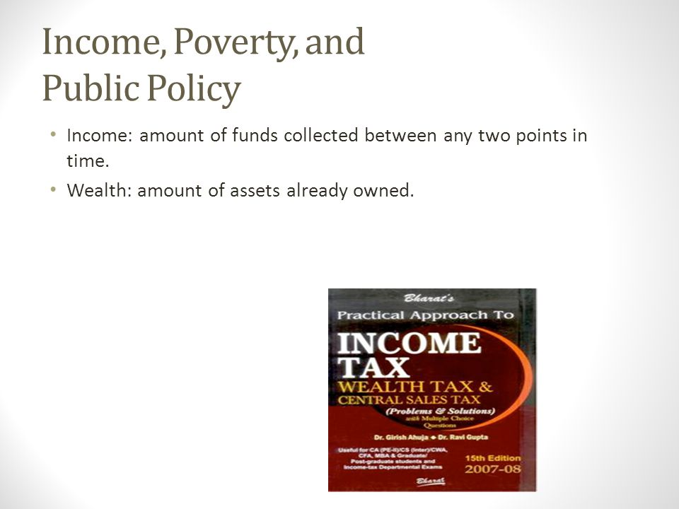 Income, Poverty, and Public Policy
