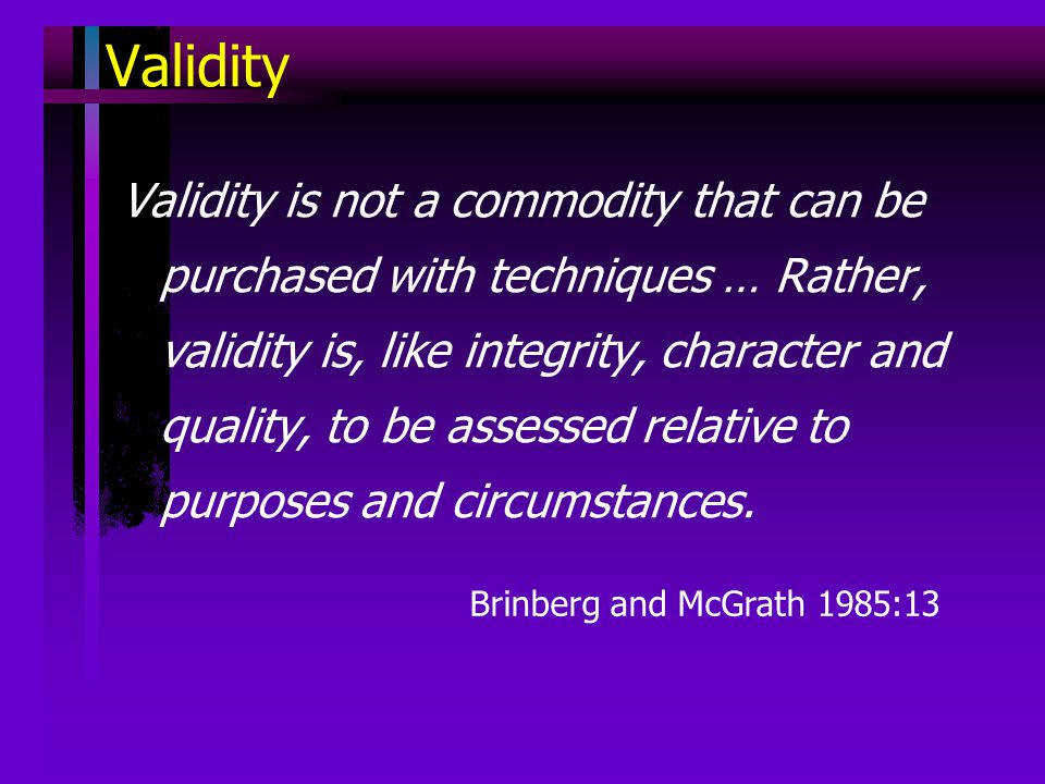 validity in research methods