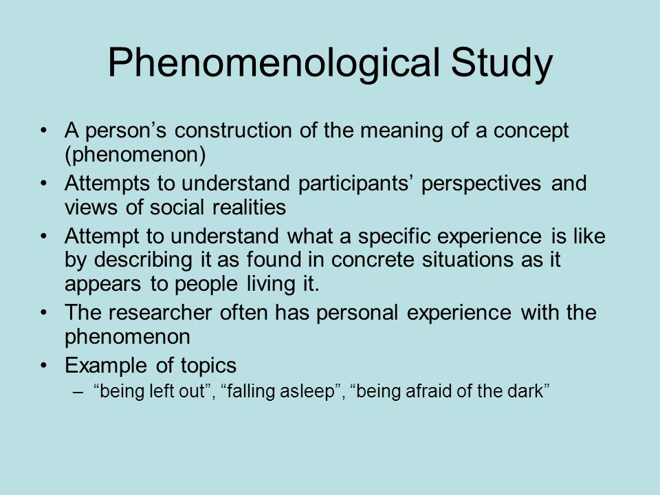 Phenomenology in My Future Research