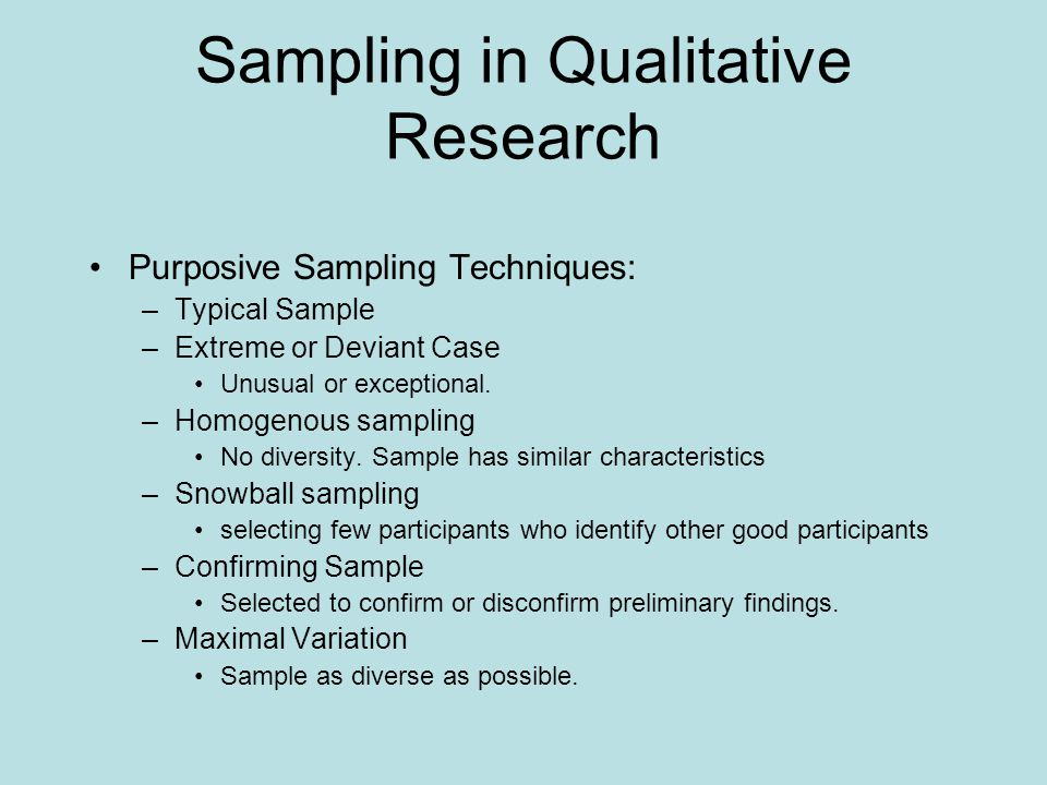 sampling and research The methods literature regarding sampling in qualitative research is  characterized by important inconsistencies and ambiguities, which can be.