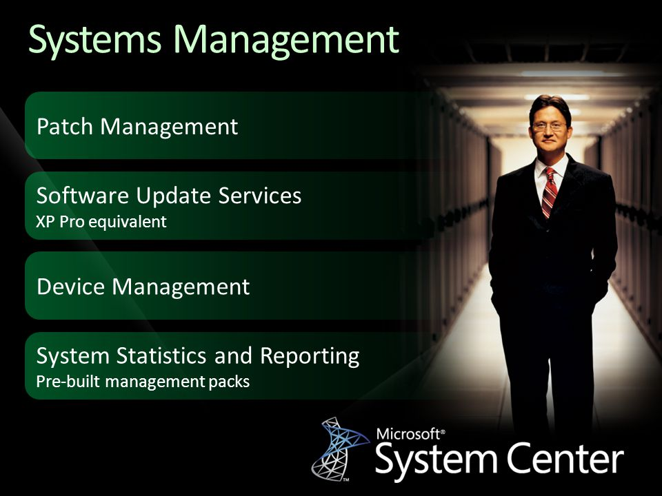 Systems Management Patch Management Software Update Services