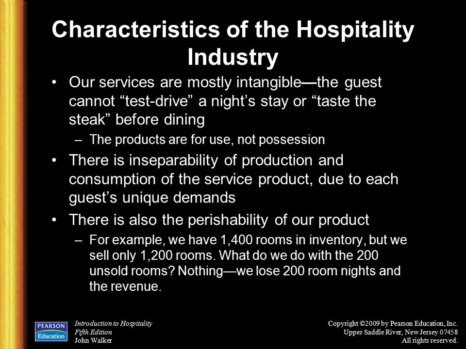 example of perishability and inseparability products services of hospitality spirit Inseparability ✓ heterogenity ✓ perishability ✓ ownership we need to examine the quality of tourism services in terms of these factors 421 marketing mix in hospitality these are intangible products and more difficult to market than tangible products the intangible nature of services makes quality control difficult.
