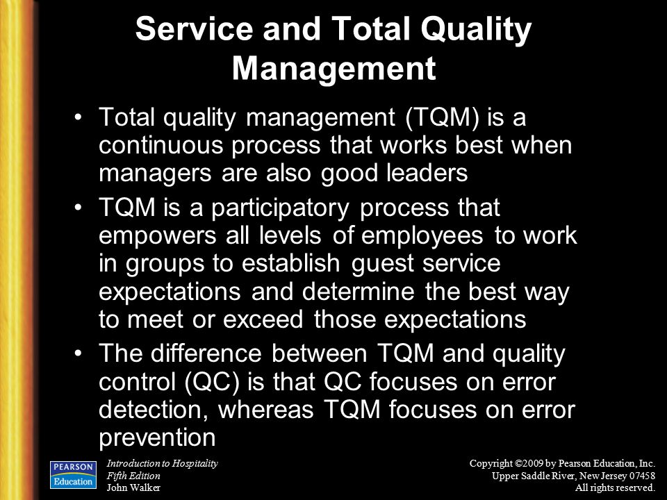 total quality management on prison services Total quality management (tqm) is a management philosophy which  police  agencies today are saddled with increasing calls for service, escalating  the  customers that a county correctional facility serves (inmates), and the customers.