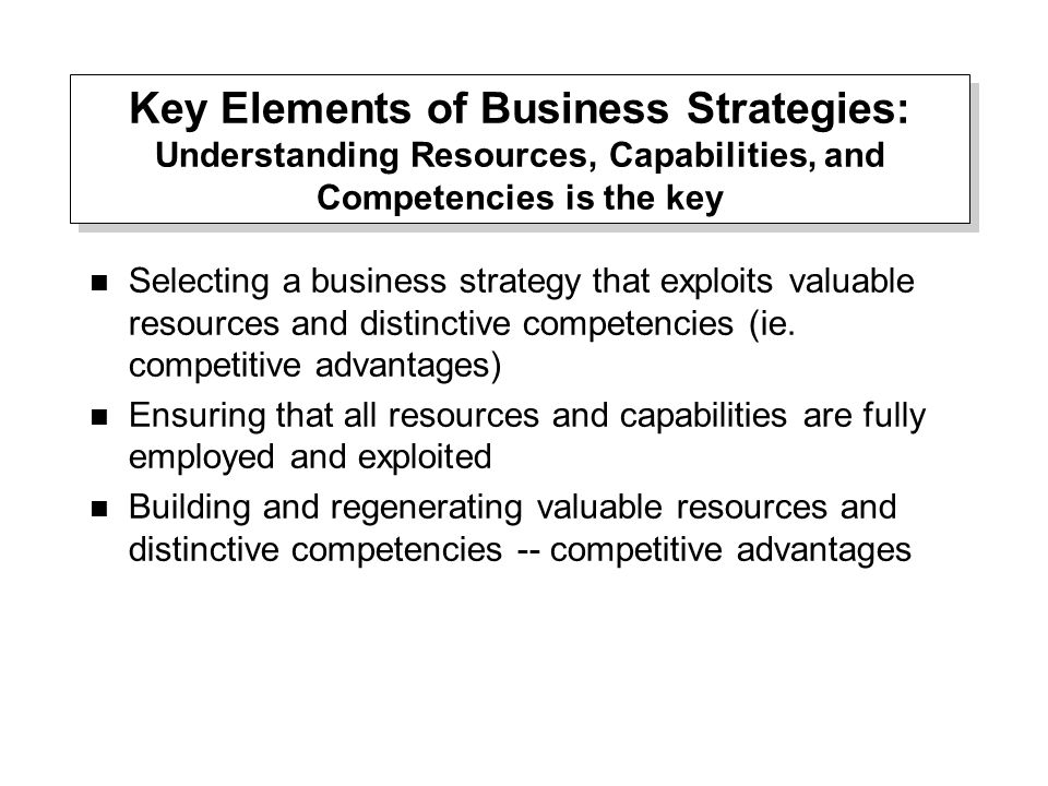 key resources and capabilities Capabilities are complex patterns of skill in utilizing resources to  resources  and capabilities are core to an organizations competitive advantage  key  terms and concepts in international business clarified in plain english.