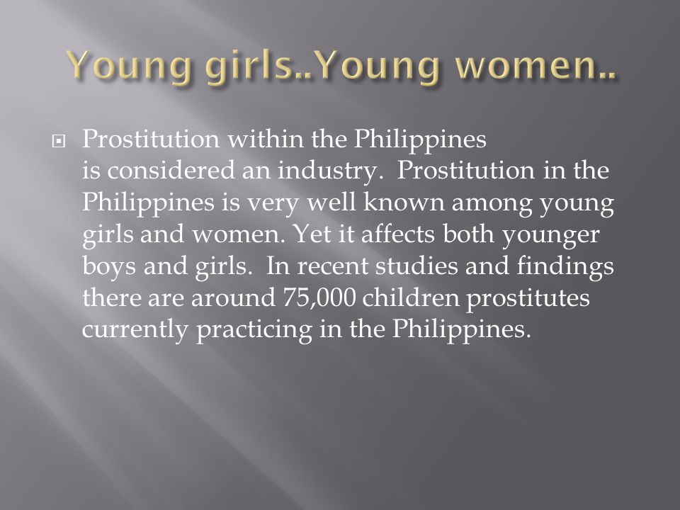 prostitution in philippines Prostitution in zamboanga city has risen sharply - even more than last year and after the 2013 fighting between government troops and the mnlf - read more.
