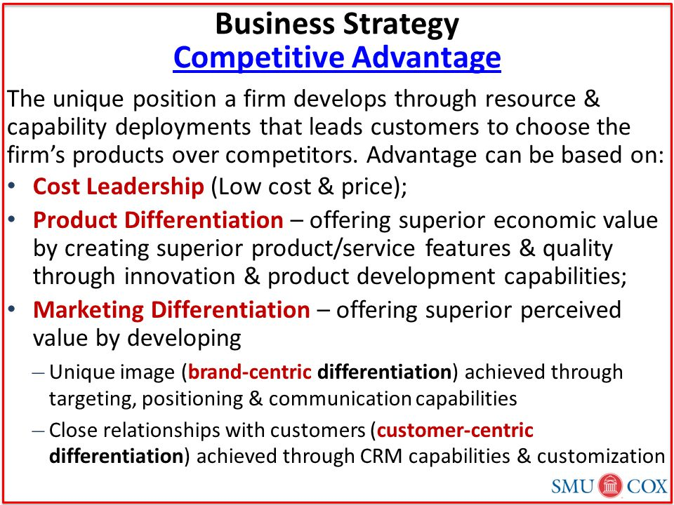strategic positioning and competitive advantage Shin: strategies for competitive advantage in electronic commerce one possible competitive strategy is product bundling product bundling promotes the benefits.