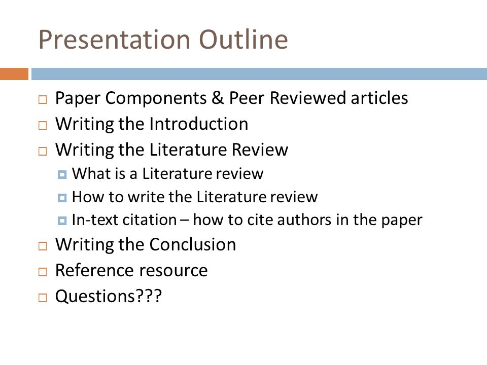 how to write an article review powerpoint