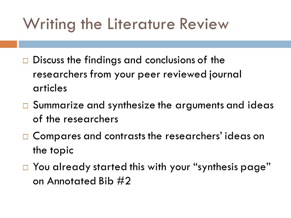 writing a literature review science A literature review will give the reader a clear statement of the topic or problem a clear presentation of the range of research on the topic an evaluation of the research an indication of what further research is necessary it is not enough to summarise the research literature.