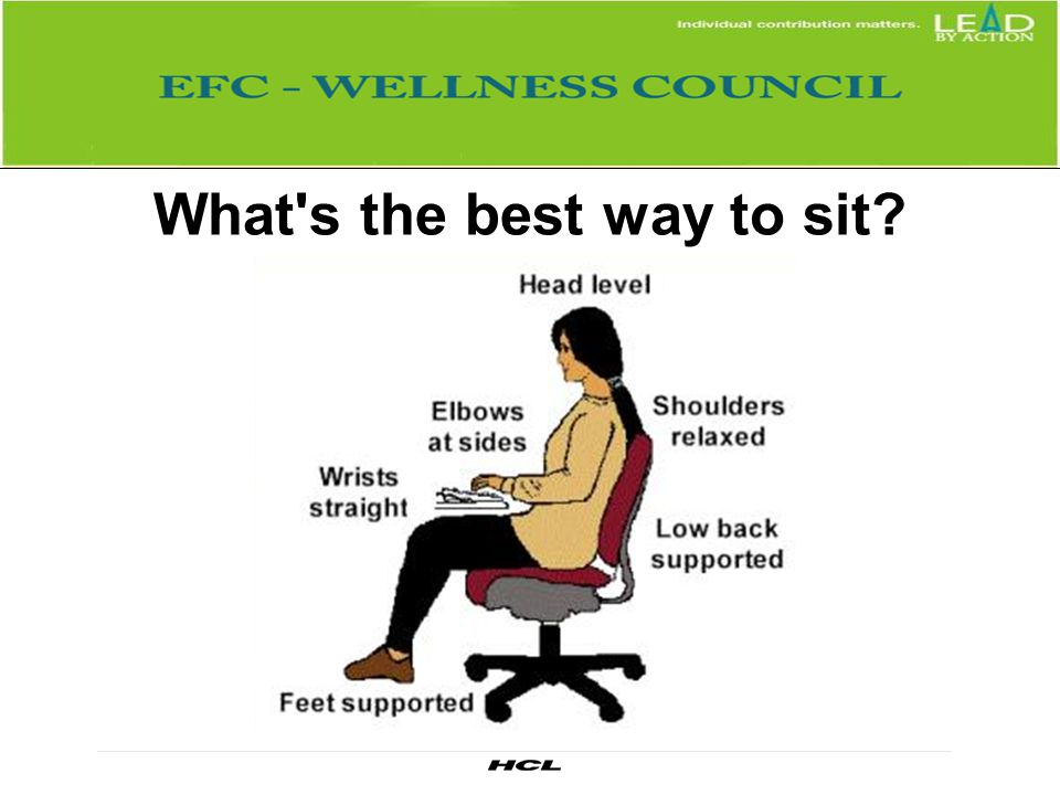 What s the best way to sit