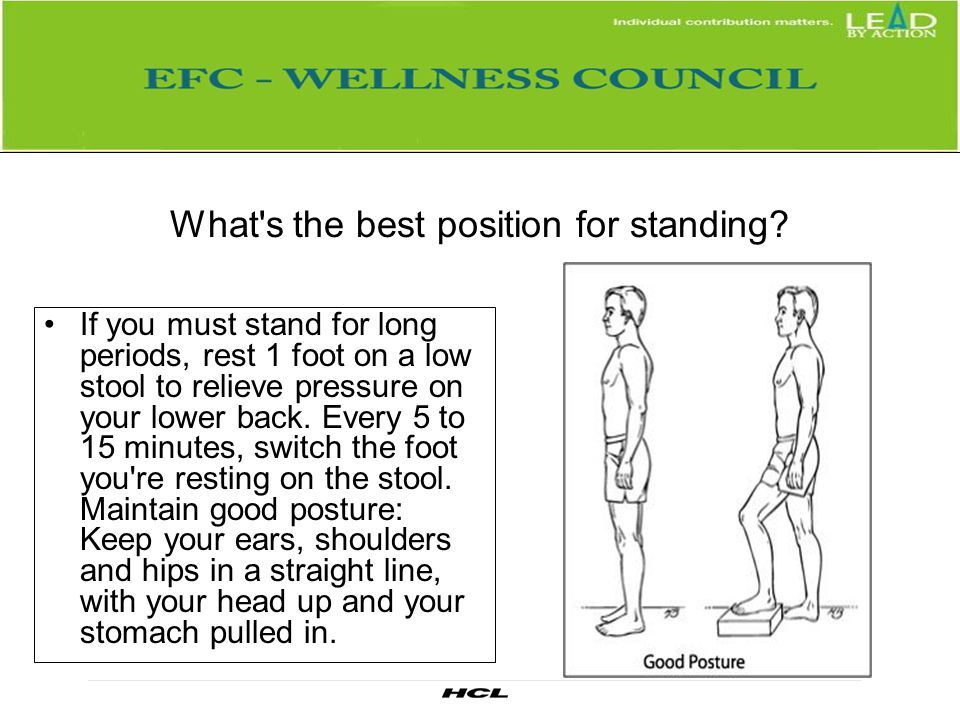 What s the best position for standing