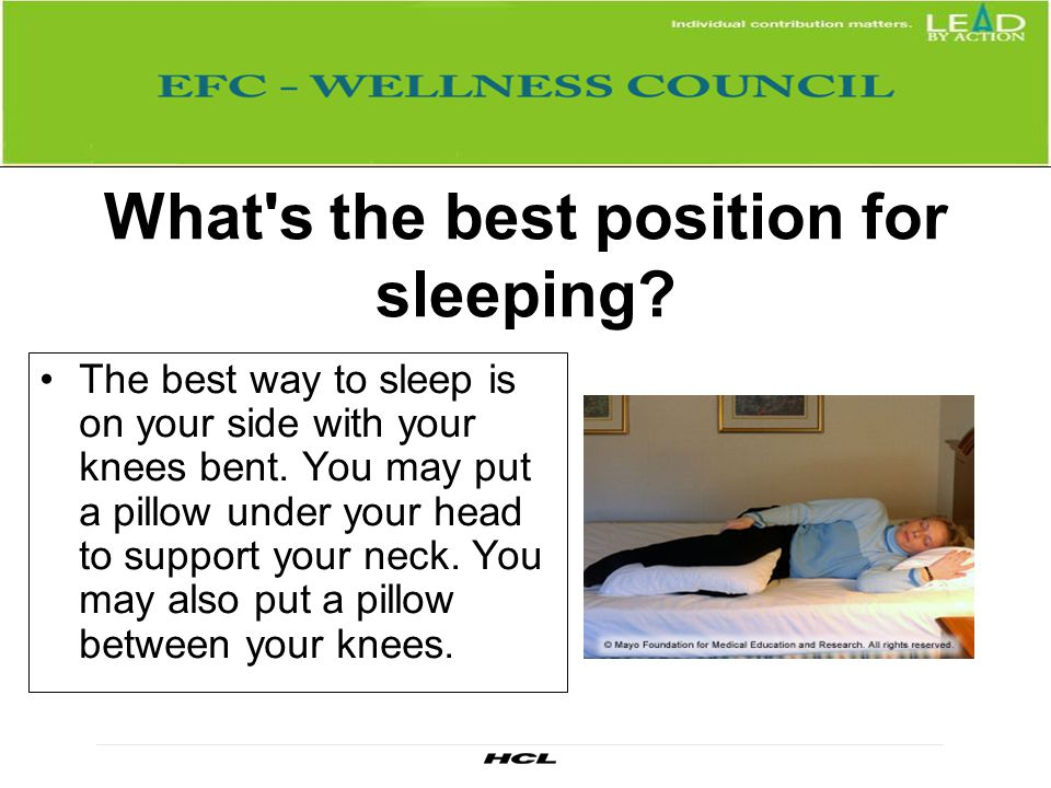 What s the best position for sleeping