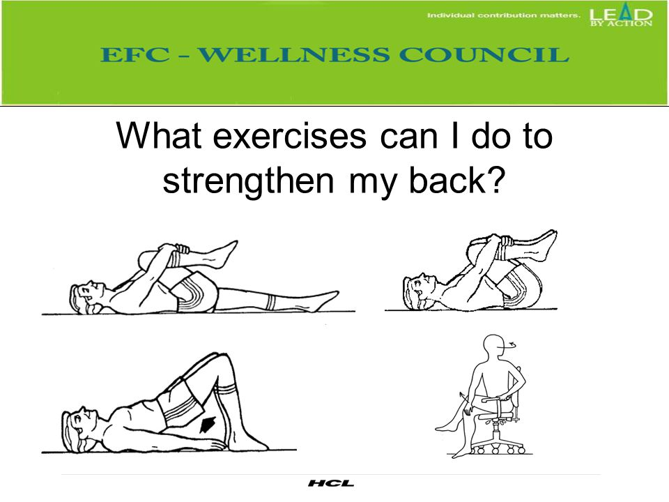 What exercises can I do to strengthen my back