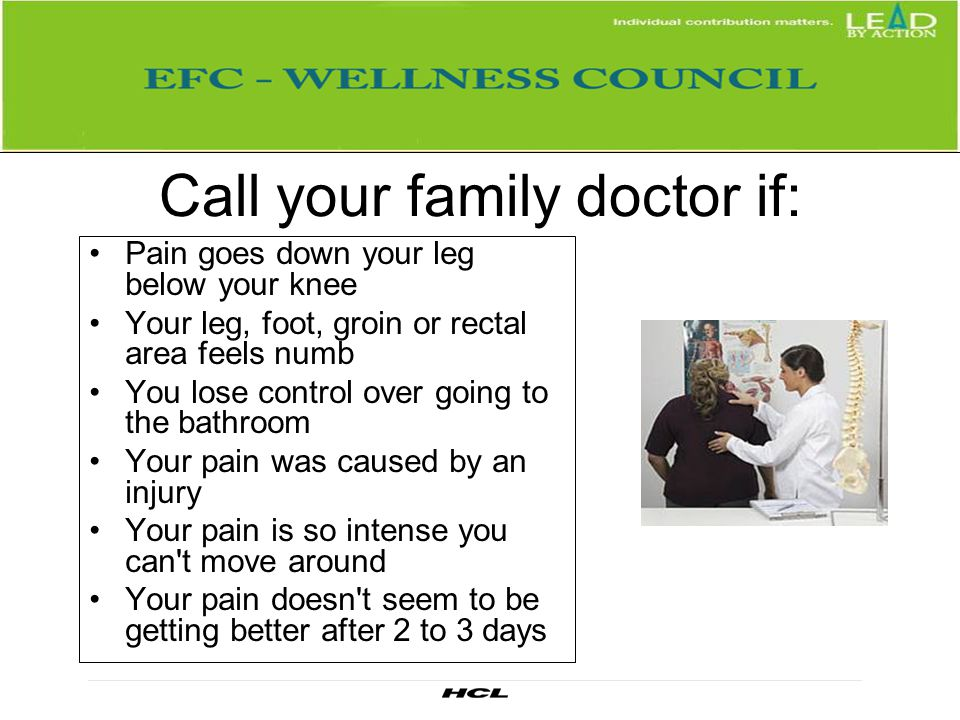 Call your family doctor if:
