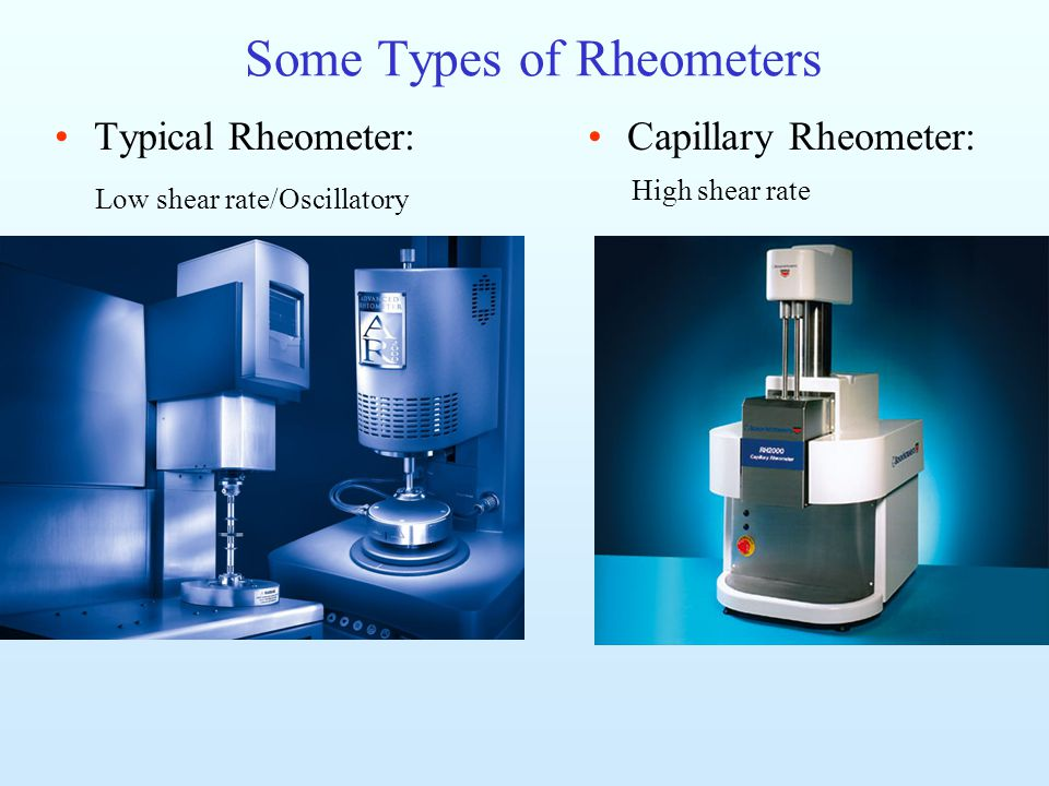 Some Types of Rheometers