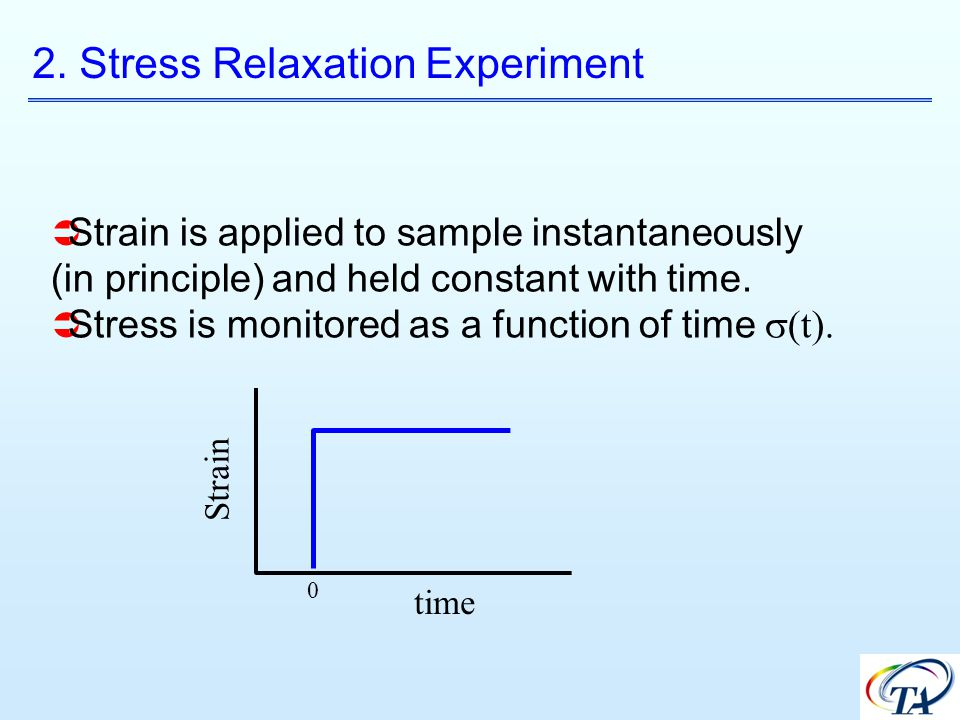 2. Stress Relaxation Experiment