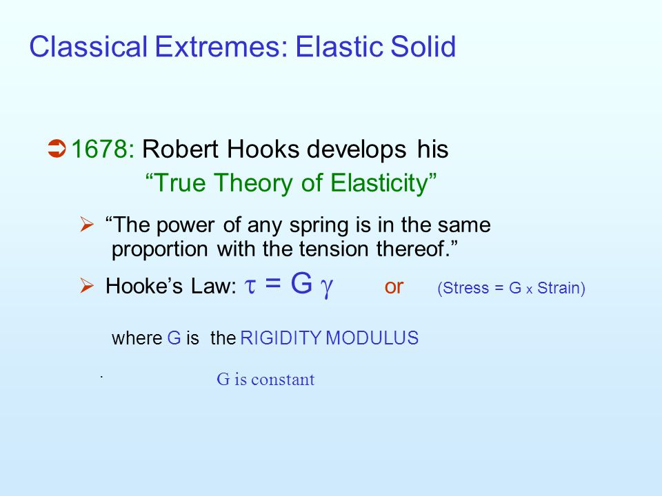 Classical Extremes: Elastic Solid