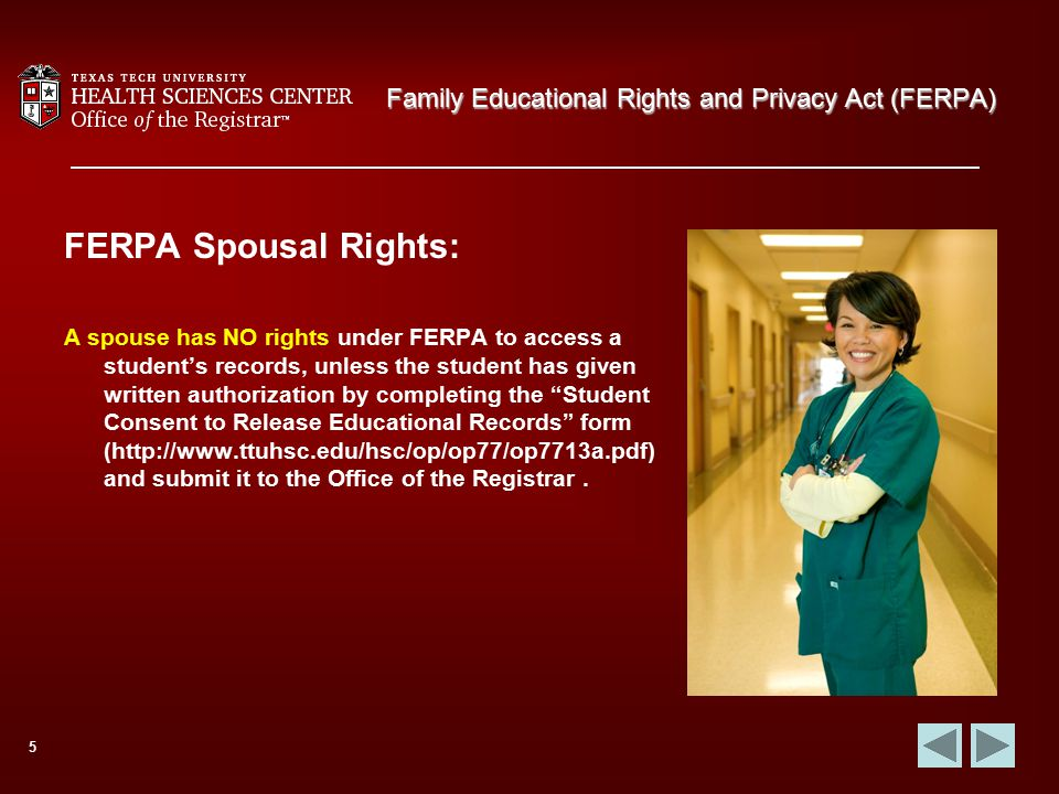 Family Educational Rights And Privacy Act Ferpa  Ppt Download