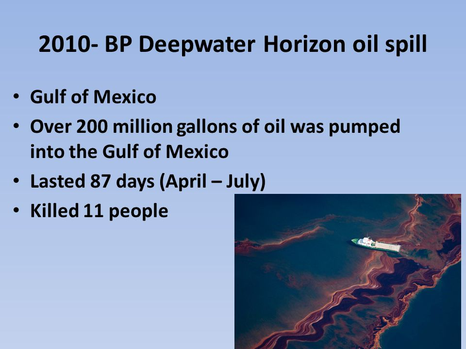 oil spills how it affects