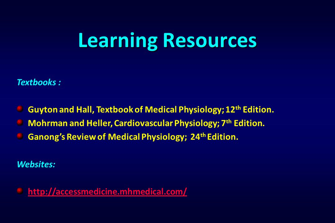 Learning Resources Textbooks :