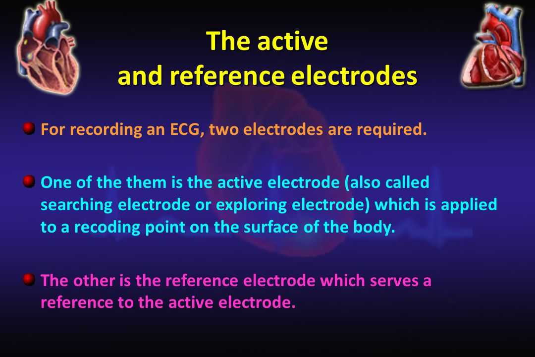 The active and reference electrodes