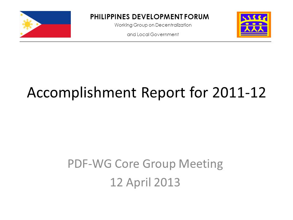 Accomplishment Report For  Ppt Video Online Download