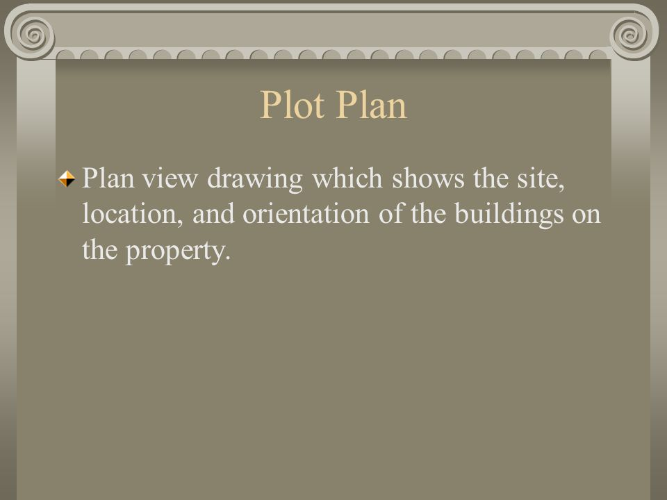 Chapter 8 plot plans ppt video online download for Plot plan drawing