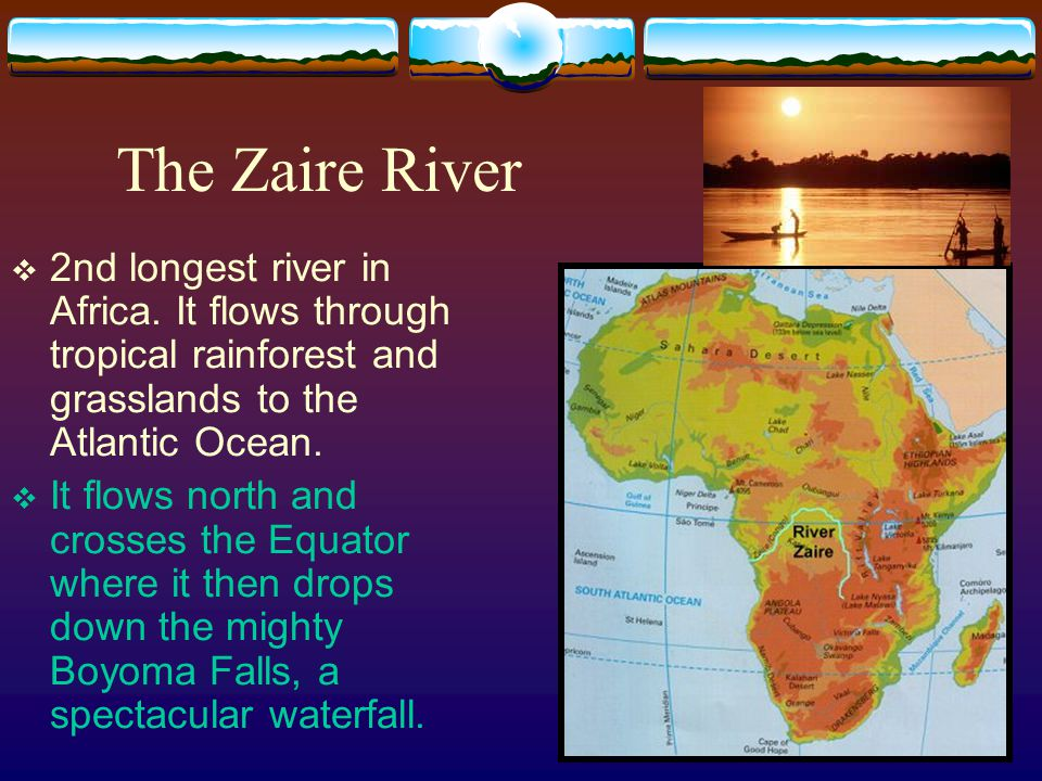 The Physical Geography Of Africa Ppt Download - Longest river in each continent