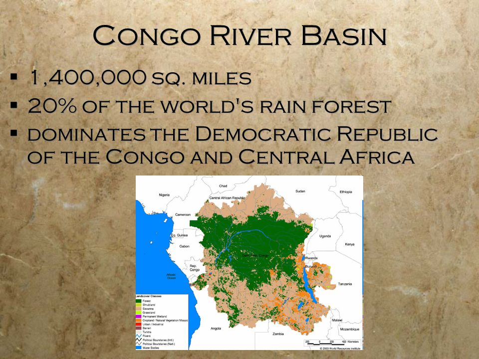 an introduction to the geography of the congo basin Congo river basin 11/1/2009 7 the niger river basin • introduction: how does geography affect the lives of the people of africa compare and contrast various.