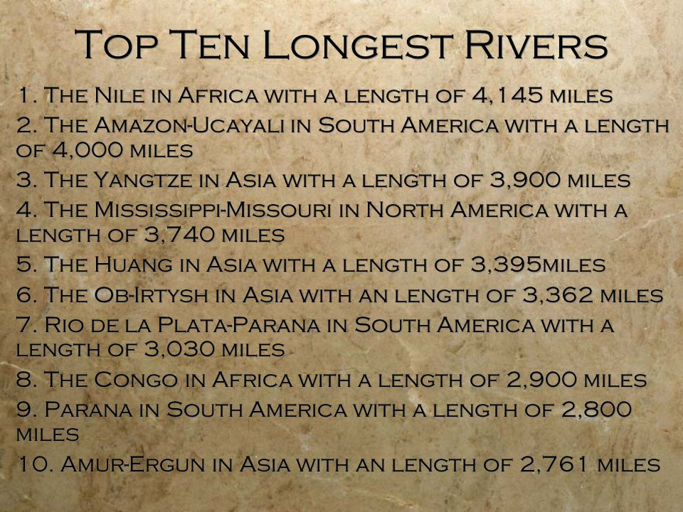 Geography Of Africa Ppt Video Online Download - World's longest rivers top 5