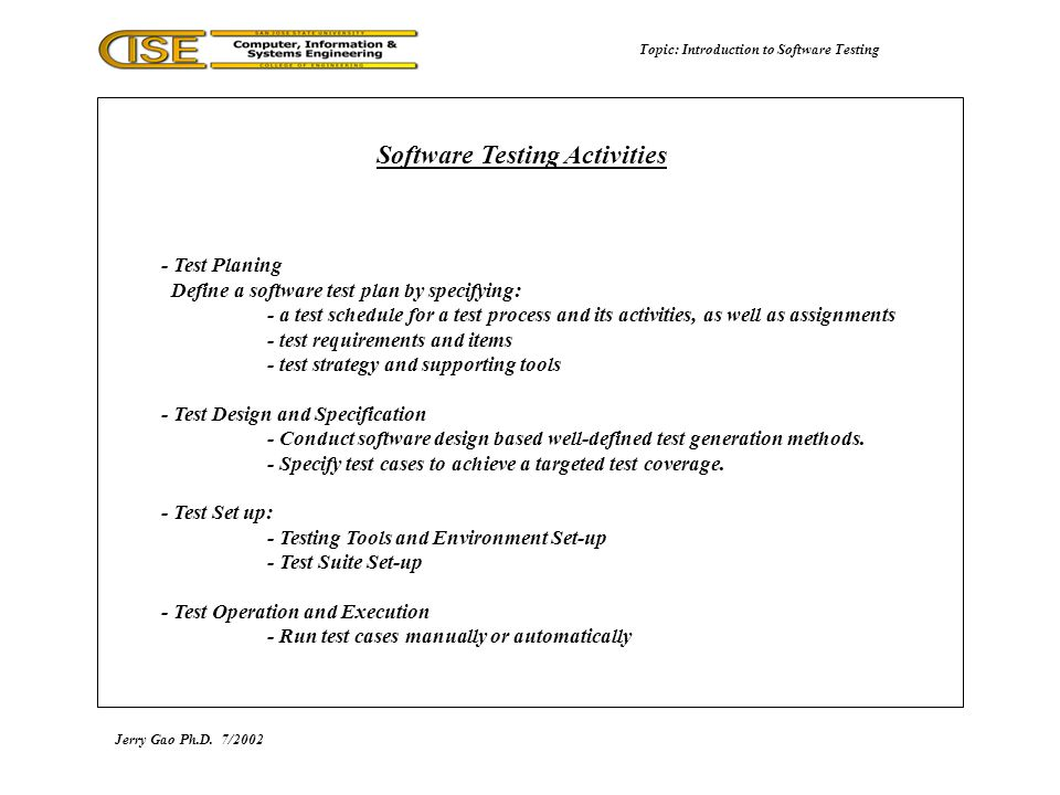 how to test software manually