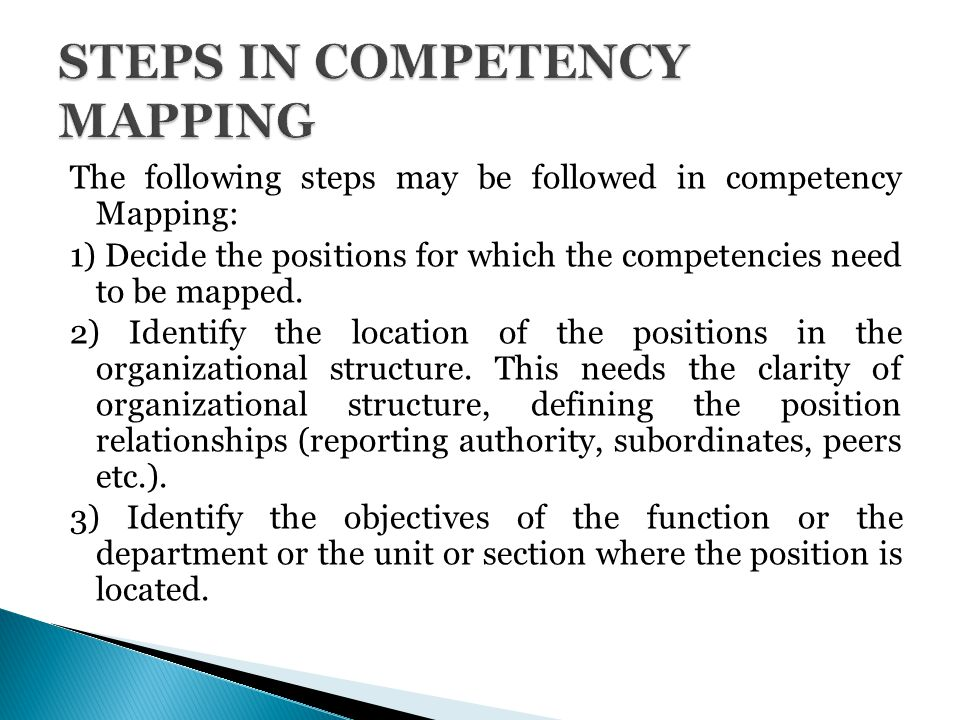 Competency mapping SlideShare Competency mapping and knowledge management in projects with special  reference to HP