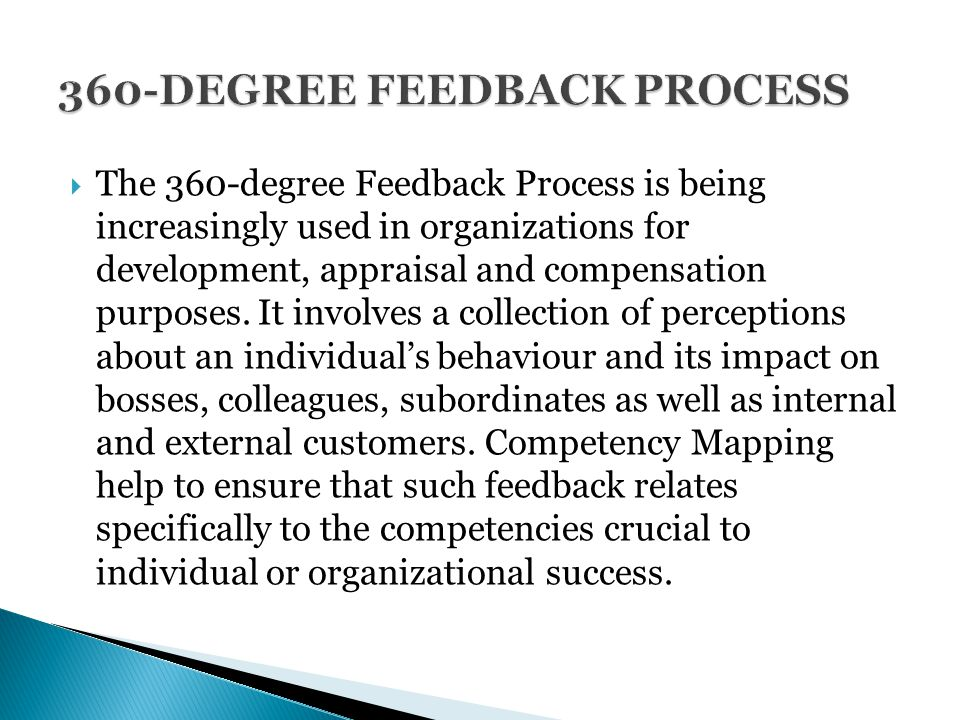 360 degree feedback in the appraisal process Integrating 360 degree feedback in to performance appraisal tool and developmental process doi: 109790/487x-17135061 wwwiosrjournalsorg.