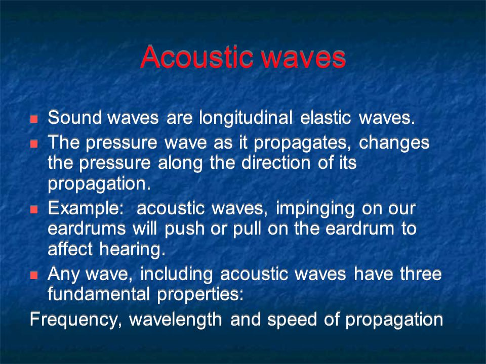 Acoustic Sound Waves : Acoustic sensors and actuators ppt download