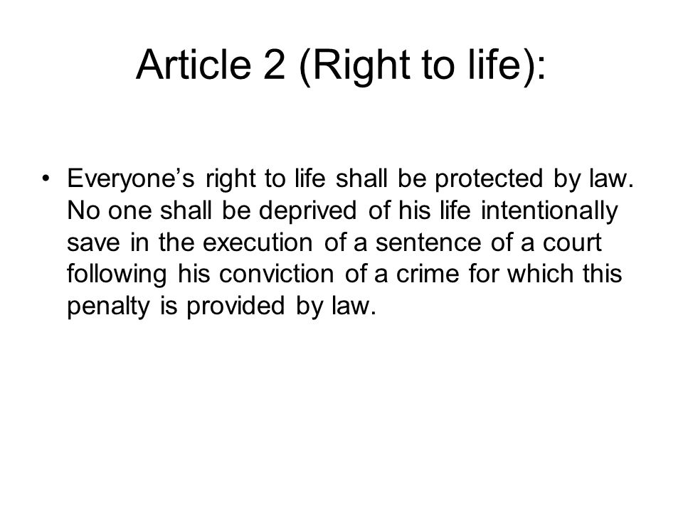 article 6 the right to a