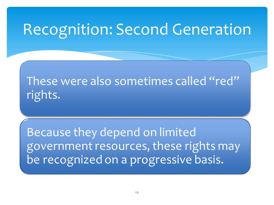 Recognition: Second Generation