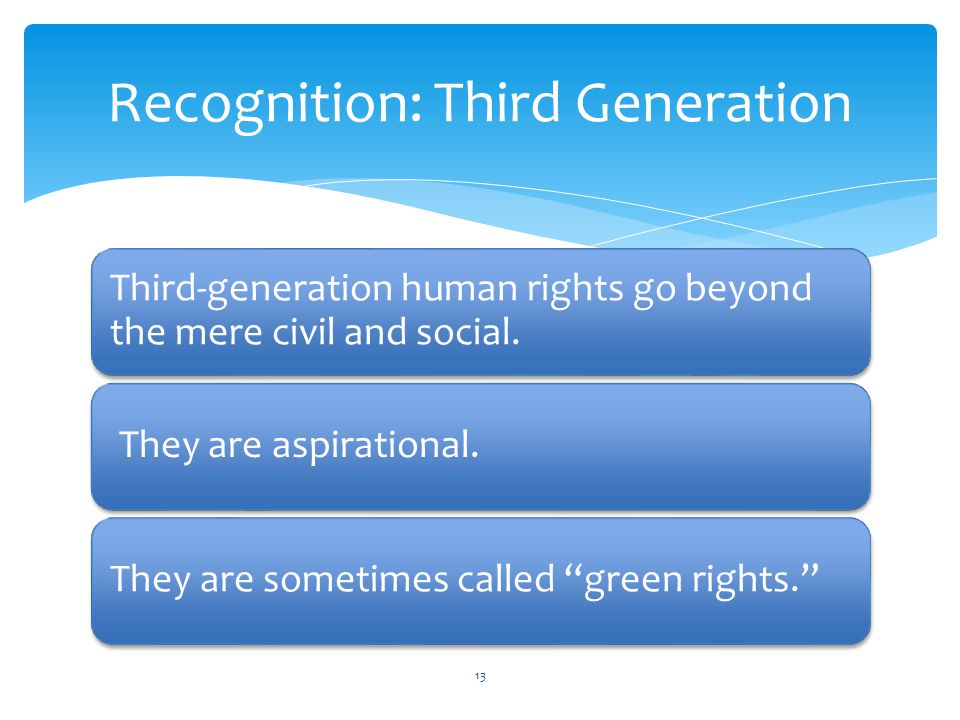 Recognition: Third Generation